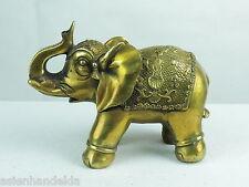 A1294 China Figur Tier Elephant Messing  Glücksbringer Deko Geschenk H13B17T7