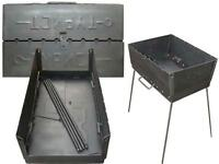 Portable Barbecue Shashlik Mangal Grill Set Maker Case Outdoor BBQ Kabab Stove