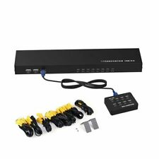 8 Port USB VGA KVM Switch 8 in 1 with 8 Set Cable For Mouse Keyboard Monitor PC