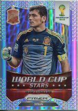 Panini Prizm WC 2014 Copa del Mundo Refractor Paralelas Iker Casillas #33 estrellas