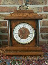 Vintage Hermle Table clock with Bim Bam Chime, oak body