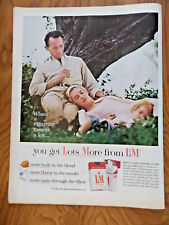 1962 L & M Cigarette Ad A Cigarette Means a Lot Family Outdoors Hiking Resting