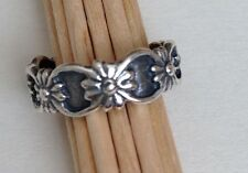 Stylish Sterling Silver Flower Band Toe Ring *More Styles in Shop***Low Postage*