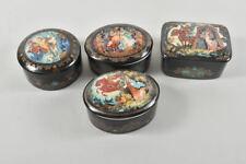 k64o26- 4x russische Porzellan Dose mit Spieluhr