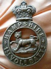 More details for victorian 1st volunteer battalion hampshire regiment cap badge qvc 2 lug antique