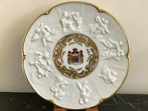 Vintage Capodimonte Porcelain Napoleon a' Josephine Plate