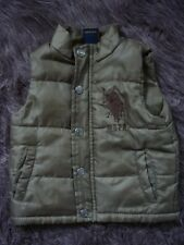 POLO New York City Baby Girls Boys Unisex (12 MONTHS) Bodywarmer Gilet Coat ARMY