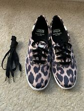 Brand New Keds x kate spade (Sz 6.5M) Champion Leopard Satin Sneakers