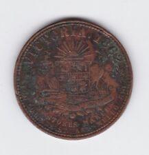 1862 AUSTRALIA TRADE TOKEN THOMAS STOKES MELBOURNE VICTORIA PENNY  Z-265