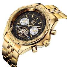 luxury Golden ORKINA Calendar date day Auto-mechanical Stainless steel Men Watch