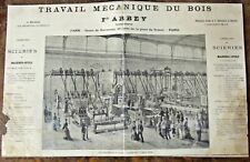 Ancienne Affiche Publicitaire XIX ème  Exposition de F.ARBEY  ,Paris 1878