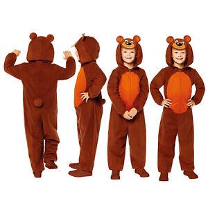 Childs Bear Fancy Dress Animal Costume Zoo World Book Day Girls Boys Kids