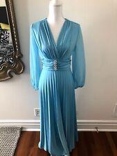 New listing 👗Vintage Women's Dress 1970's 70's Sheer Sleeve