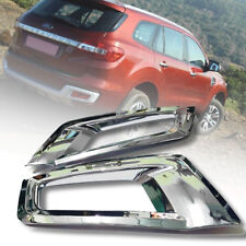 CHROME COVER REAR REFLECTOR PAIR FIT FOR FORD EVEREST SUV 2015 16 17