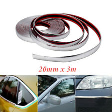 3M x 20mm Car Truck Chrome DIY Moulding Trim Strip For Grille Window Door Bumper