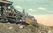1907-15 Print Postcard; Dirt Spreader Spreading Dirt, Early Heavy Equipment