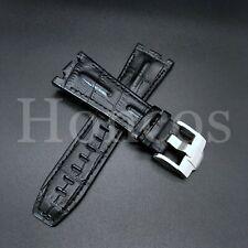 28MM Alligator Leather Watch Band Strap Fits For AP Audemars Piguet Black 42 USA