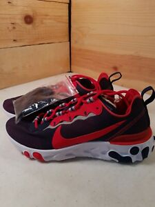Mens Sz7 Nike React Element 55 NFL New England Patriots CK4883-400