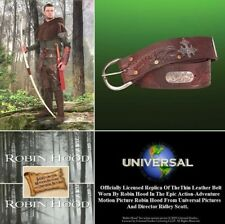 Medieval Robin Hood Wide Leather Belt Officially Licensed Movie Reproduction