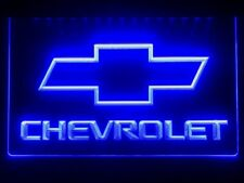 Chevrolet Chevy Car Logo Led Night Light Sign Display Banner Man Cave Plate Kit