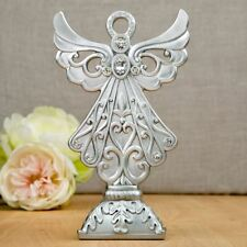 Stunning Angel statue in silver poly resin from Solefavors