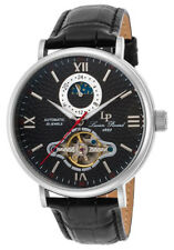 Lucien Piccard Babylon Automatic Black Genuine Leather & Dial Stainless Steel