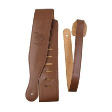 Brown Adjustable Soft Leatheroid Thick Strap For Electric Acoustic Guitar Bass