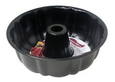 """Home Basics New Baker's Wave Fluted Cake Pan, Non-Stick, 10"""" x 3"""" - Bw00408"""