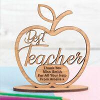 Personalised Teacher Gift Engraved Nursery Gift for School Teacher Shape Wood OK