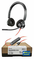 Plantronics Blackwire 3320 USB-A Headset (213934-01, BW3320) Brand New 2 Yr Warr