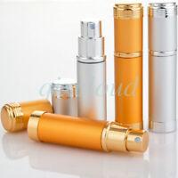Lot 5ml Aluminium Portable Mini Refillable Perfume Pump Spray Bottles Glass Tube