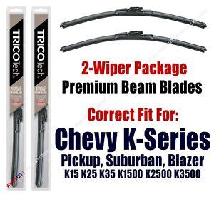 Wipers 2-Pack Premium Beam Blades 1973-1986 Chevy K30 Pickup K5 Blazer 19160x2