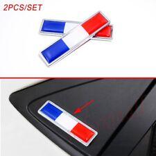2X Car Truck Badge France FR Flag Logo Emblem 3D Sticker Decal Trim Chrome Metal
