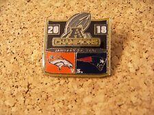 SB Super Bowl 50 Denver Broncos NE New England Patriots pin w/ score 20 18 32375