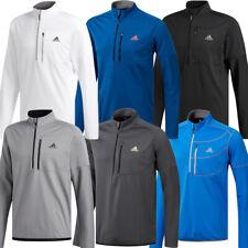 Adidas Golf Mens Climawarm Gridded 1/4 Zip Pullover Sweatshirt Top