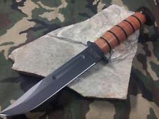 "Ka Bar Dogs Head Utility Knife 12"" Fixed Crovan Carbon Steel Camping Hunter 1317"