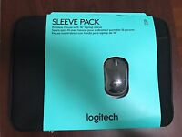 Logitech 910-002138 16.0-inch Laptop Sleeve with Wireless Mouse - Black