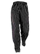 Chef Pants Black White Stripe 2xl Elastic With Drawstring Waist Chef Designs New