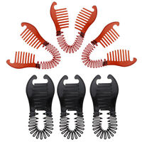 Perfeclan 6pcs Plastic Updo Bun Comb Clip DIY French Twist Hairstyle Tools