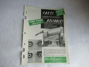 John Deere tractor crack detector spec sheet brochure