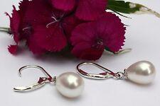 YR29    Zucht Süßwasser Perlen Schmuck Ohrringe Ohrstecker Ohrhänger 925 Silber