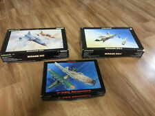 3  Authentic Eduards aircraft hobby kit 1:48 MIRRAGE 3C AND 3CJ+P-39Q AIRCOBRA