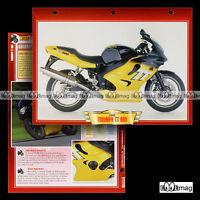 #027.02 Fiche Moto TRIUMPH TT 600 2000 Sport Bike Motociclo Motorcycle Card