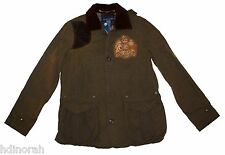 NWT Ralph Lauren Women's Crested Suede Gun Patch Hunting Jacket M $798