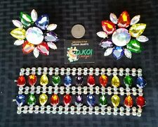 Pride & AB custom set drag qeen jewelry braclet, ring earrings -any color choice