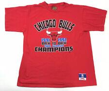 Vintage 90s Chicago Bulls NBA World Champions back to back 1992 T Shirt L Nutmeg