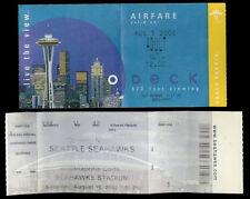 Rare Vintage 2002 Seattle Seahawks Football & Space Needle Admissions Tickets
