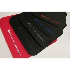 Rally Armor MF17-UR-BLK/SIL Urethane Rally Mud Flap Set Black w/Silver Logo