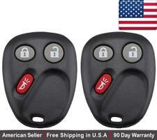 2x New Keyless Entry Remote Key Fob For Cadillac Chevy GMC Saturn - LHJ011
