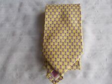 "Martha's Vineyard Vines Yellow with Pink Ribbons Silk Tie 57 1/2"" Hand Made USA"